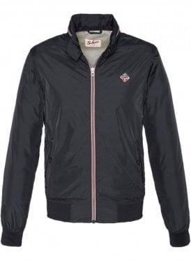 Cabl12r Blouson With Hidden Hood Zip Jacket Black
