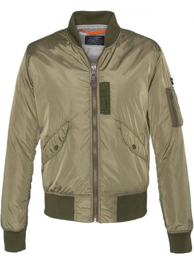 SCHOTT Light Padded Nylon Jacket Army Khaki