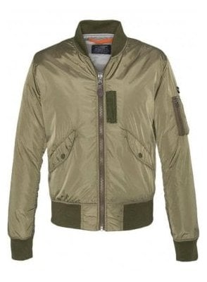 Light Padded Nylon Jacket Army Khaki