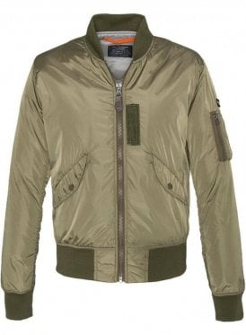 Light Padded Nylon Jacket Army Khaki