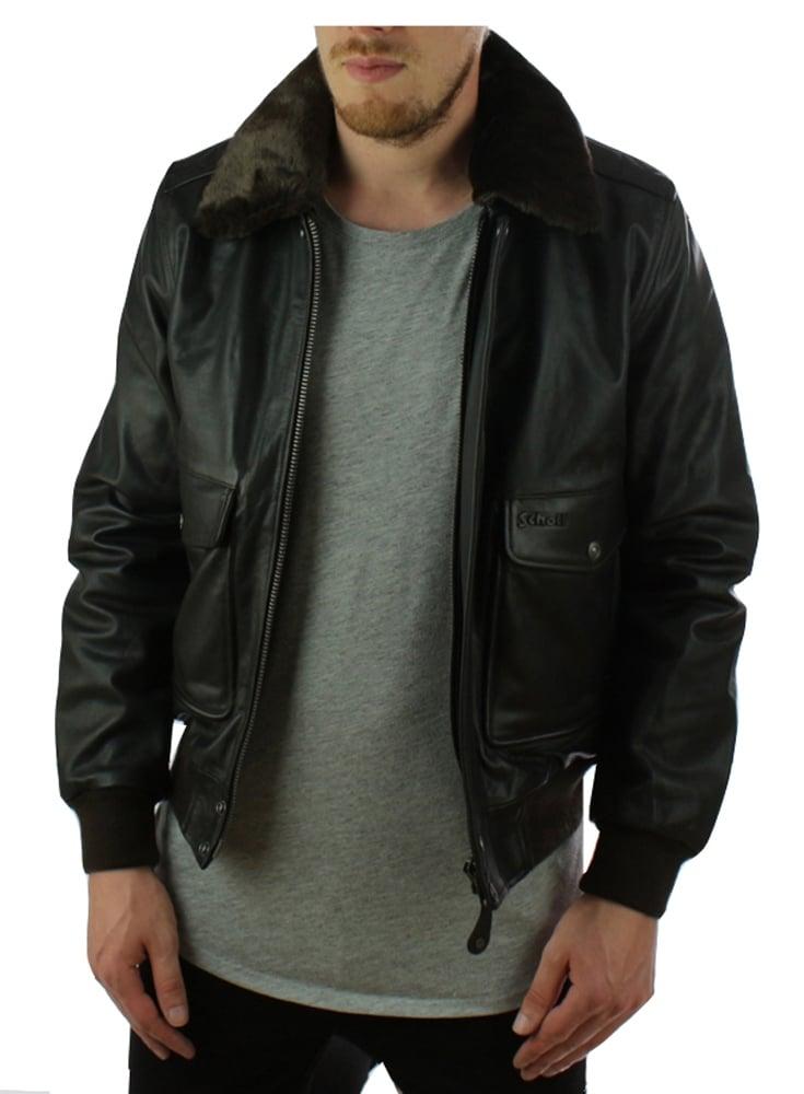 Schott leather bomber jacket