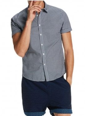Classic Short Sleeved Shirt Navy/black