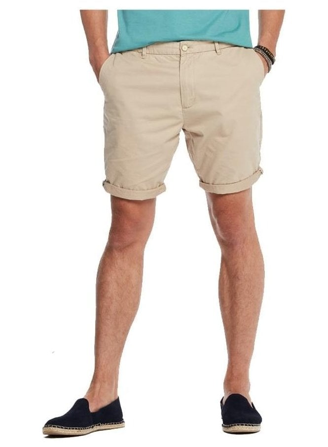 SCOTCH AND SODA Cotton Chino Smart Short Sand