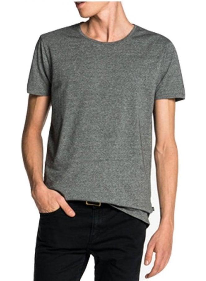 SCOTCH AND SODA Cotton/lycra Crew Neck Tshirt Charcoal Melange