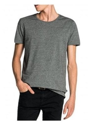 Cotton/lycra Crew Neck Tshirt Charcoal Melange