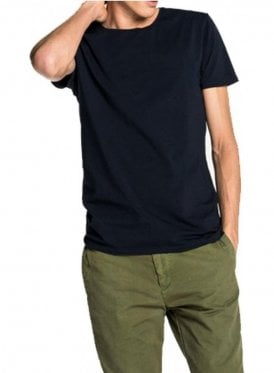 Cotton/lycra Crew Neck Tshirt Navy
