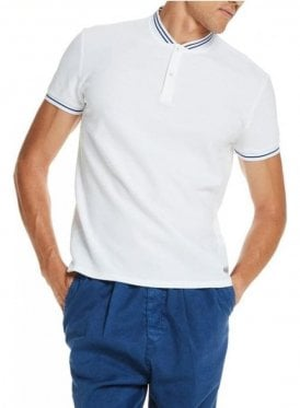 Cotton Pique Short Sleeved Tshirt White