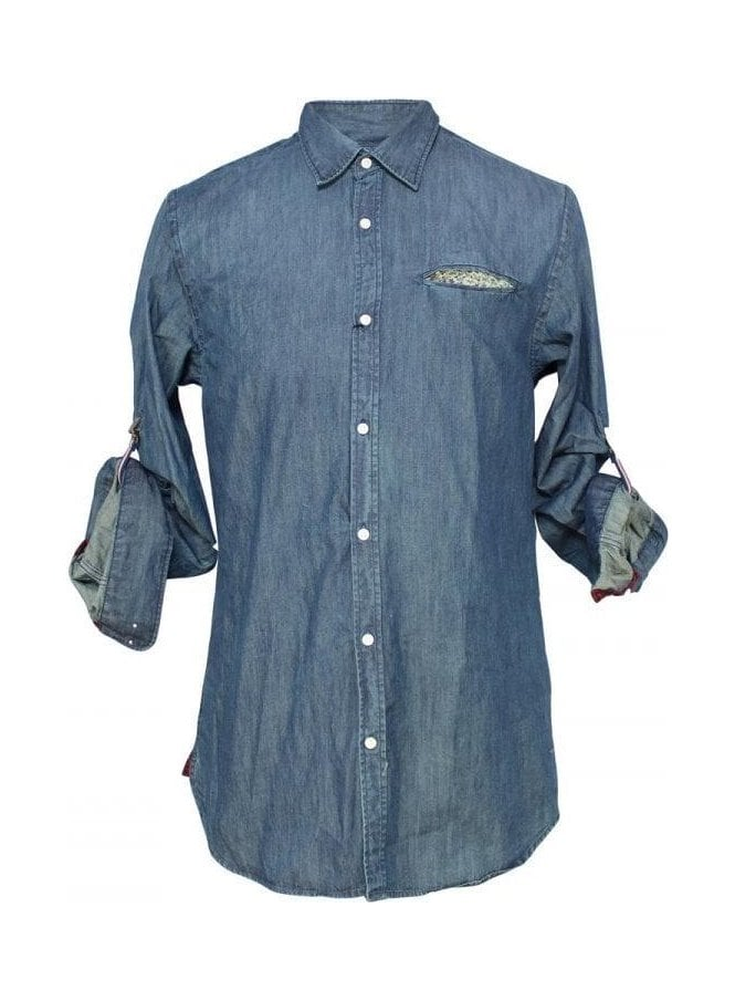 SCOTCH AND SODA Crispy Poplin Shirt 51 Indigo