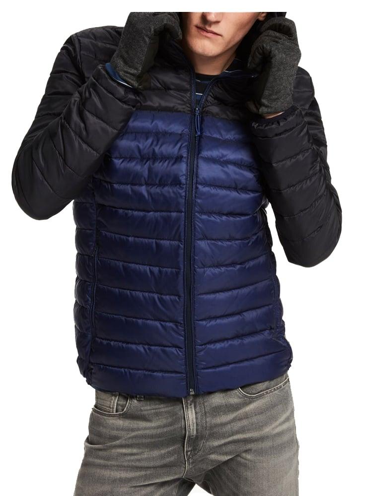 scotch soda quilted hooded jacket blue black. Black Bedroom Furniture Sets. Home Design Ideas
