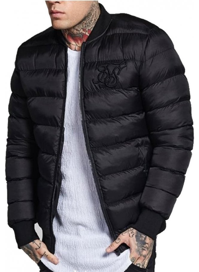 SIK SILK Aero Bubble Bomber Jacket Black