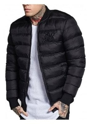 Aero Bubble Bomber Jacket Black