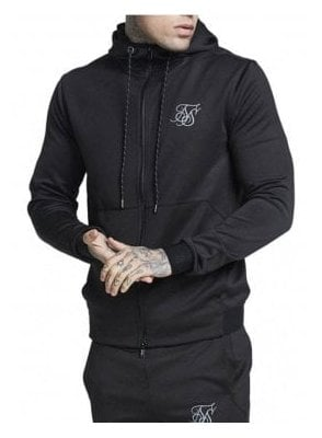 Agility Zip Through Hoodie-Black