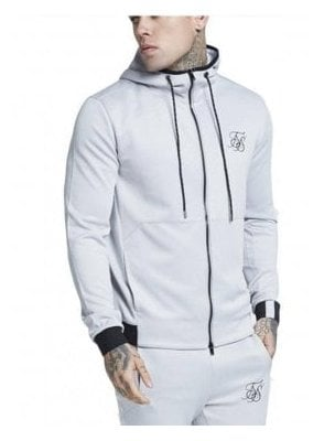 Agility Zip Through Hoodie - Ice Grey