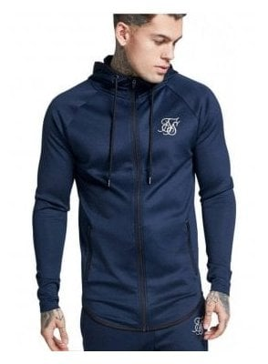 Athlete Zip Through Hoodie Navy