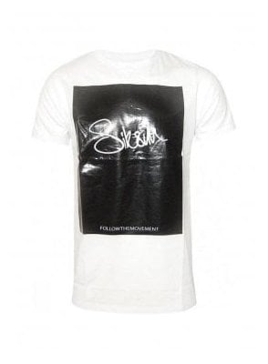 Block Signature Tee White
