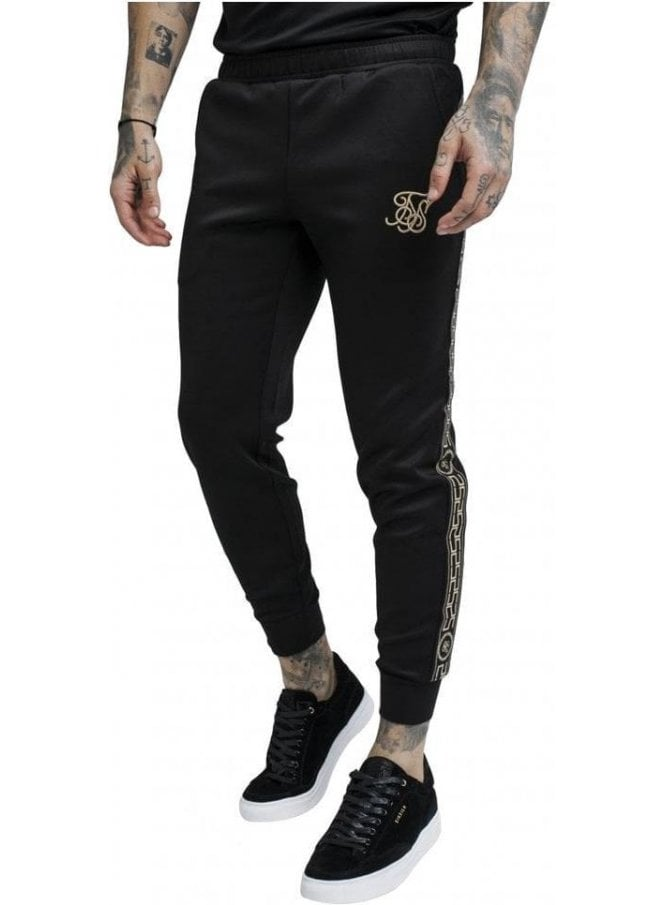 SIK SILK Cartel Cropped Cuffed Track Pants - Black