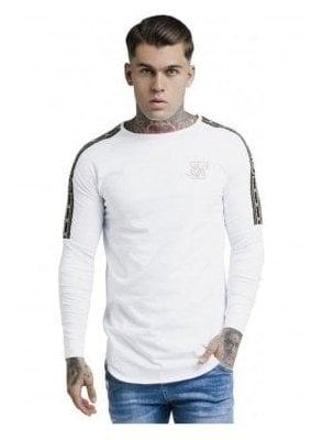 Cartel Long Sleeve Gym Tee - White