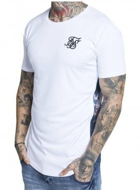 Curved Hem Slide Tee White Heron