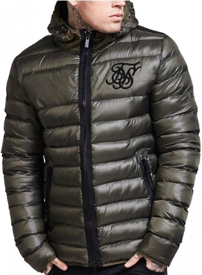SIK SILK Frontline Bubble Hooded Jacket Khaki