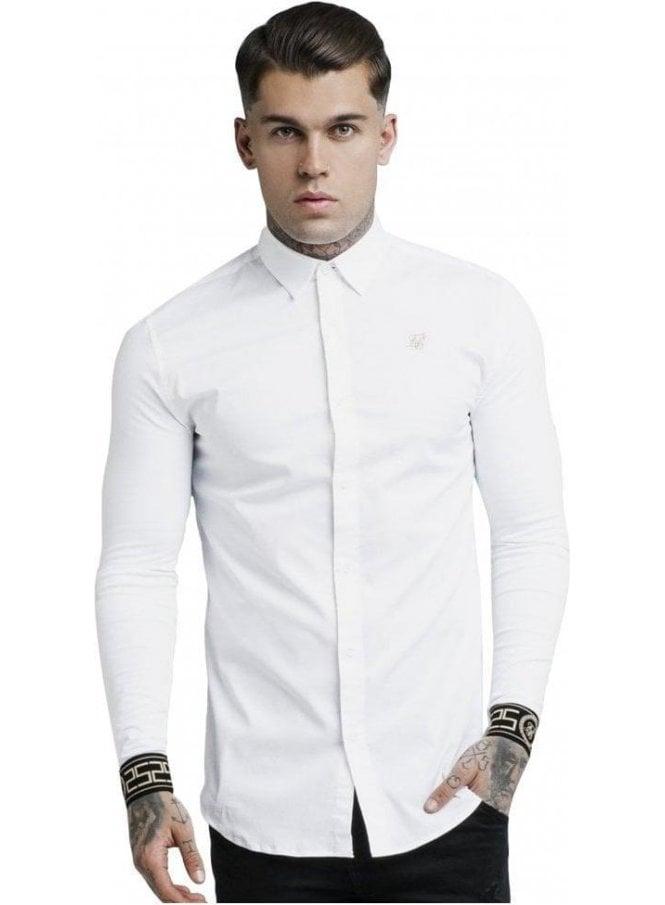 SIK SILK L/S Cartel Shirt - White & Gold