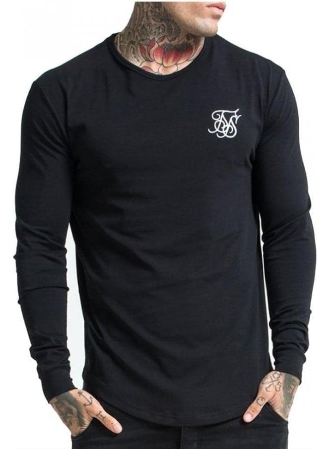 SIK SILK Long Sleeve Gym Tshirt Black