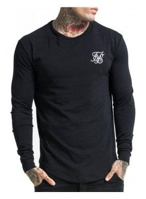 Long Sleeve Gym Tshirt Black