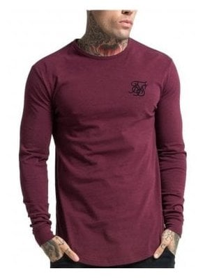 Long Sleeved Gym Tshirt Burgundy