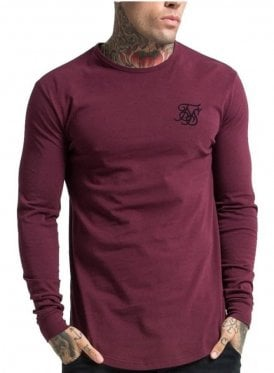 Long Sleeved Gym Tshirt Burgundy