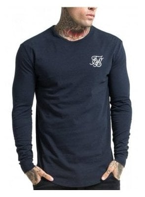 Long Sleeved Gym Tshirt Navy