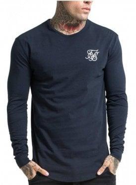 Long Sleeved Gym Tshirt Navy