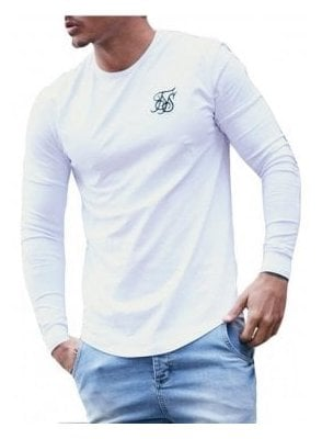 Long Sleeved Gym Tshirt White