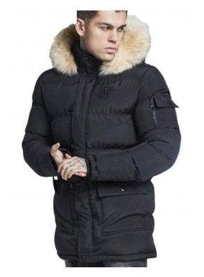Puffa Parka Jacket Black