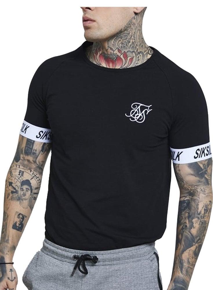 3d90a6ce Sik Silk Raglan tech t shirt - Ghia Menswear - Mens Designer Clothing
