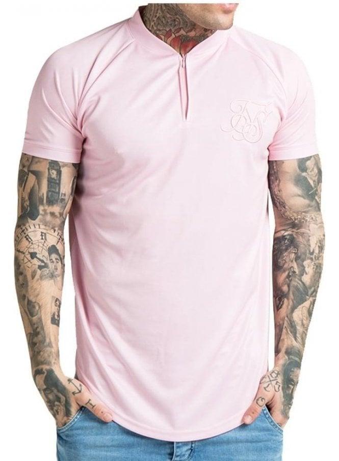 SIK SILK Regular Fit Baseball T-Shirt Pink