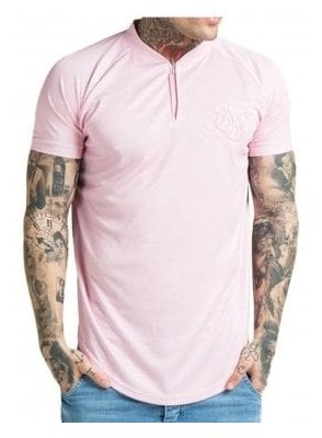 Regular Fit Baseball T-Shirt Pink