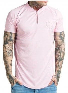 Regular Fit Baseball T-Shirt Pink