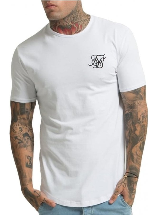 SIK SILK Short Sleeved Gym Tshirt White