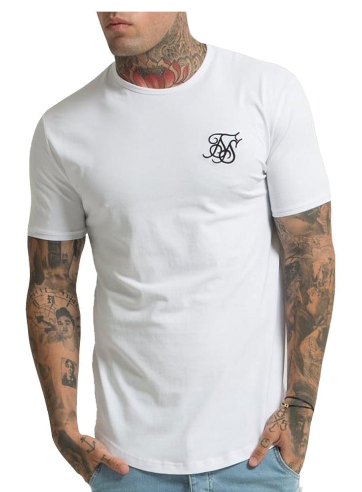 Sik silk short sleeved gym tshirt white for Silk white t shirt