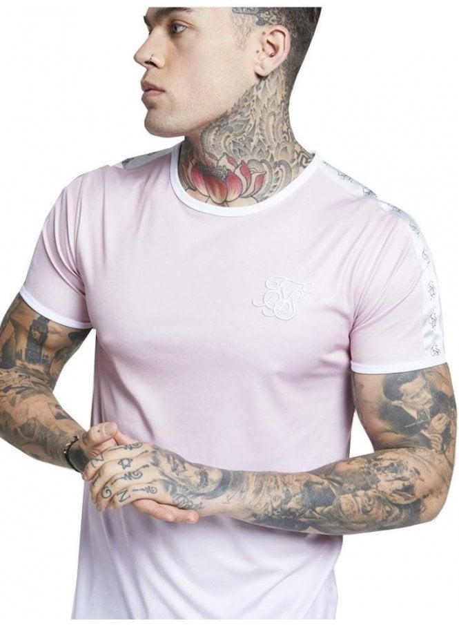SIK SILK Taped Fade Gym Tee Pink