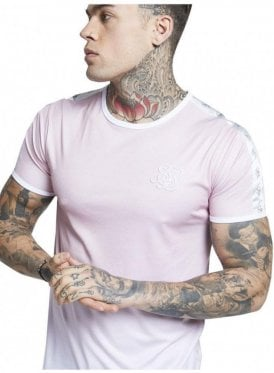Taped Fade Gym Tee Pink