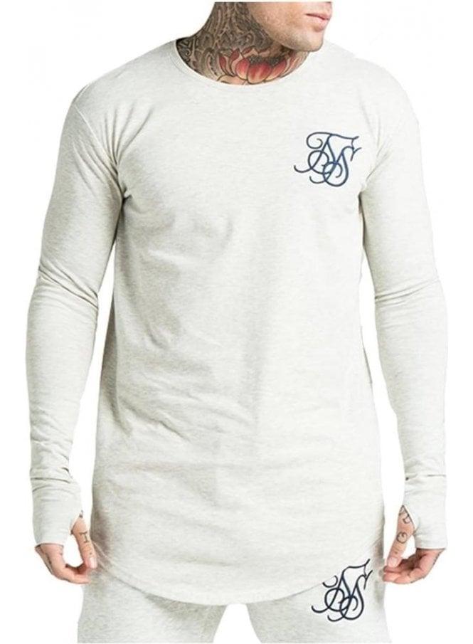 SIK SILK Undergarment Long Sleeved Tshirt Cream