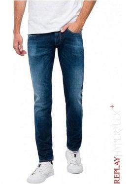 10e41c59 Slim Fit Hyperflex+ Anbass Jeans - Dark Blue
