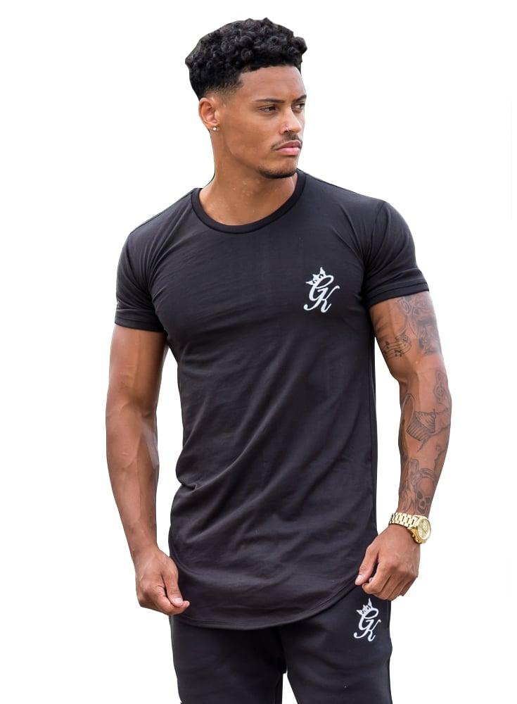 6eacc6c8 Gym King Longline Tshirt Black