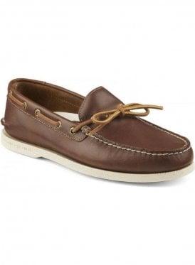 A/O 1-Eye Leather Boating Shoe Tan