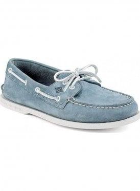 A/o 2-eye Boating Shoe Washable Blue