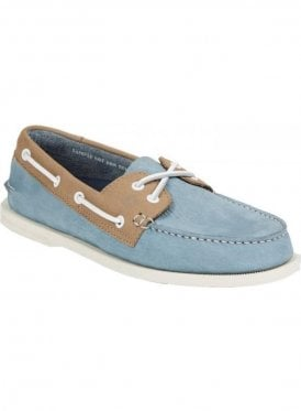 A/o Washable Boating Deck Shoe Blue/taupe