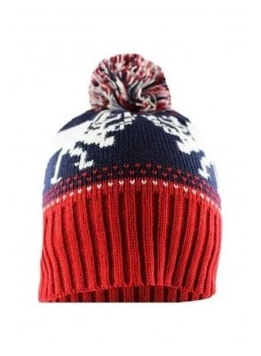 Reindeer Navy Ski Hat