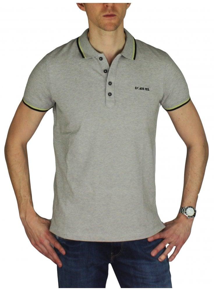 d392b0ca7 T Randy Broken Polo Shirt - Light Grey - designer menswear - ghia mens