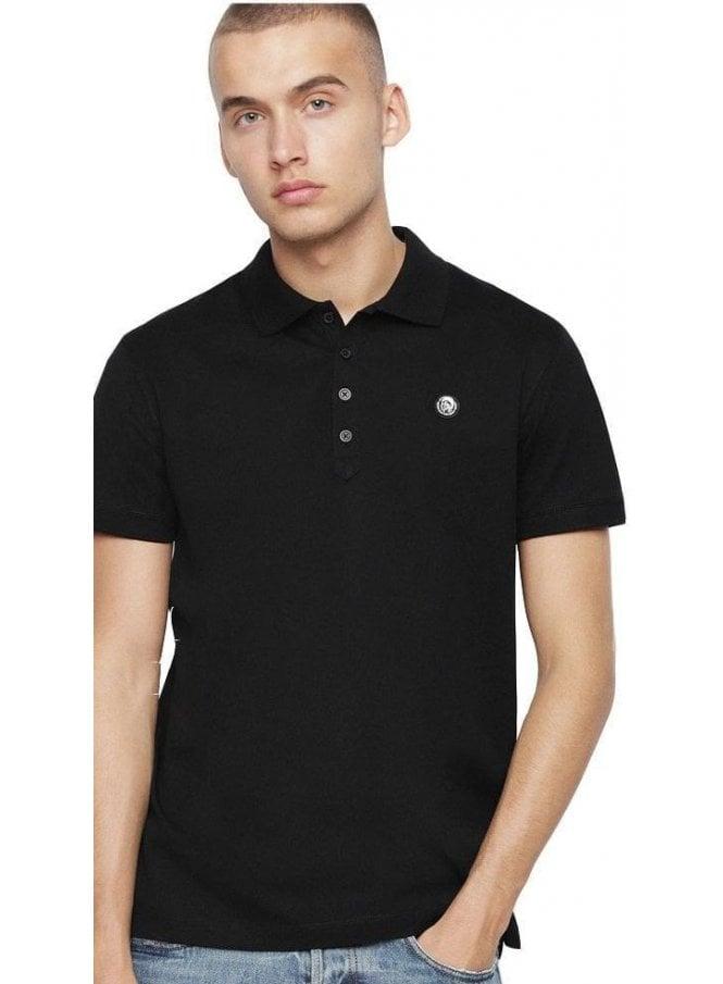 DIESEL T-weet Polo Shirt 900 Black