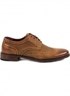 Tan Brogue Style Shoe Tan